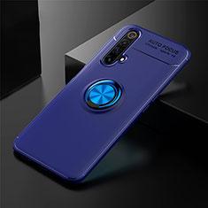 Funda Silicona Carcasa Ultrafina Goma con Magnetico Anillo de dedo Soporte para Realme X3 Azul