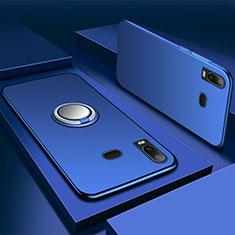 Funda Silicona Carcasa Ultrafina Goma con Magnetico Anillo de dedo Soporte para Samsung Galaxy A6s Azul