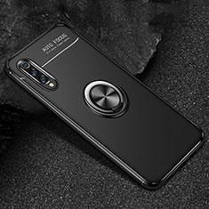 Funda Silicona Carcasa Ultrafina Goma con Magnetico Anillo de dedo Soporte para Xiaomi Mi 9 Pro Negro
