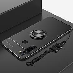 Funda Silicona Carcasa Ultrafina Goma con Magnetico Anillo de dedo Soporte para Xiaomi Redmi Note 8T Negro