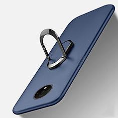 Funda Silicona Carcasa Ultrafina Goma con Magnetico Anillo de dedo Soporte T01 para OnePlus 7T Azul