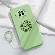 Funda Silicona Carcasa Ultrafina Goma con Magnetico Anillo de dedo Soporte T01 para Xiaomi Mi 10T Lite 5G Menta Verde