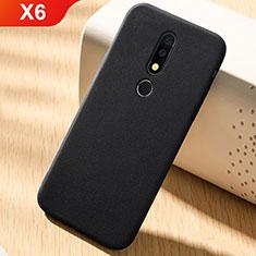 Funda Silicona Carcasa Ultrafina Goma Frontal y Trasera 360 Grados para Nokia X6 Negro