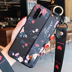 Funda Silicona Gel Goma Flores Carcasa K01 para Samsung Galaxy Note 10 Plus 5G Negro