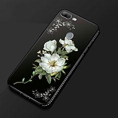 Funda Silicona Gel Goma Flores Carcasa para Huawei Honor 9 Lite Negro