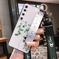 Funda Silicona Gel Goma Flores Carcasa para Xiaomi Mi 10 Ultra Verde