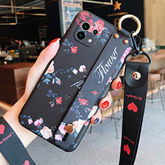 Funda Silicona Gel Goma Flores Carcasa para Xiaomi Mi 11 5G Negro