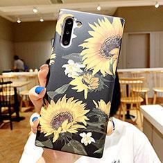 Funda Silicona Gel Goma Flores Carcasa S01 para Samsung Galaxy Note 10 5G Multicolor