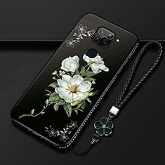 Funda Silicona Gel Goma Flores Carcasa S05 para Xiaomi Redmi 10X 4G Blanco