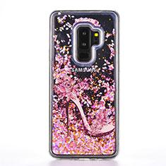 Funda Silicona Gel Goma Patron de Moda Carcasa K01 para Samsung Galaxy S9 Plus Oro Rosa