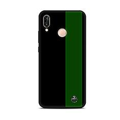 Funda Silicona Gel Goma Patron de Moda Carcasa S01 para Huawei P20 Lite Verde