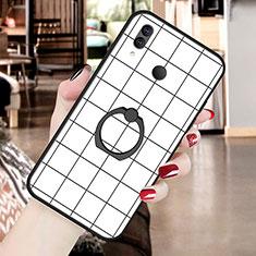 Funda Silicona Gel Goma Patron de Moda Carcasa S02 para Huawei P20 Lite Blanco