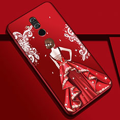 Funda Silicona Gel Goma Vestido de Novia Carcasa H03 para Huawei Mate 20 Lite Multicolor