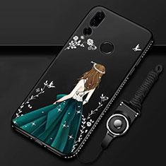 Funda Silicona Gel Goma Vestido de Novia Carcasa K01 para Huawei Honor 20 Lite Verde