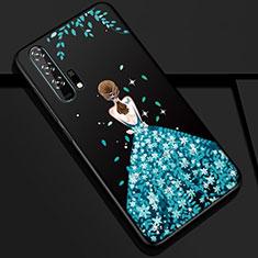 Funda Silicona Gel Goma Vestido de Novia Carcasa K01 para Huawei Honor 20 Pro Azul