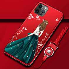 Funda Silicona Gel Goma Vestido de Novia Carcasa para Apple iPhone 12 Pro Multicolor