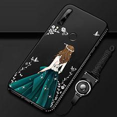 Funda Silicona Gel Goma Vestido de Novia Carcasa para Huawei Enjoy 10 Plus Verde