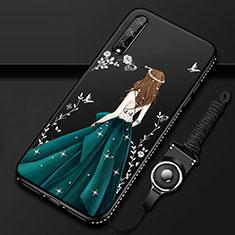 Funda Silicona Gel Goma Vestido de Novia Carcasa para Huawei Enjoy 10S Verde