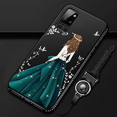 Funda Silicona Gel Goma Vestido de Novia Carcasa para Huawei Honor Play4 Pro 5G Verde