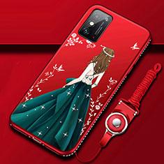 Funda Silicona Gel Goma Vestido de Novia Carcasa para Huawei Honor X10 Max 5G Verde