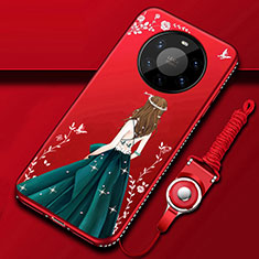 Funda Silicona Gel Goma Vestido de Novia Carcasa para Huawei Mate 40 Pro+ Plus Verde