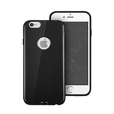 Funda Silicona Goma con Agujero para Apple iPhone 6S Negro