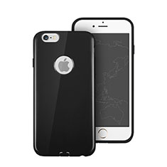 Funda Silicona Goma con Agujero para Apple iPhone 6S Plus Negro