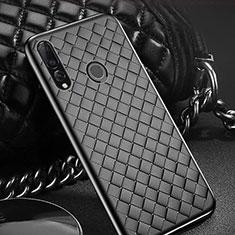Funda Silicona Goma de Cuero Carcasa A01 para Huawei Enjoy 9s Negro