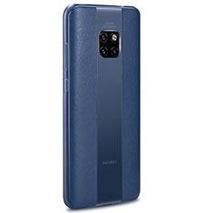 Funda Silicona Goma de Cuero Carcasa H01 para Huawei Mate 20 RS Azul