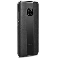 Funda Silicona Goma de Cuero Carcasa H01 para Huawei Mate 20 RS Negro