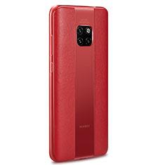 Funda Silicona Goma de Cuero Carcasa H01 para Huawei Mate 20 RS Rojo