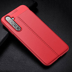 Funda Silicona Goma de Cuero Carcasa H01 para Realme X50 Pro 5G Rojo