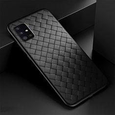 Funda Silicona Goma de Cuero Carcasa H01 para Samsung Galaxy A51 5G Negro