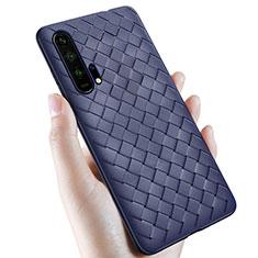 Funda Silicona Goma de Cuero Carcasa H02 para Huawei Honor 20 Pro Azul