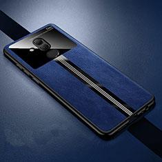 Funda Silicona Goma de Cuero Carcasa H02 para Huawei Mate 20 Lite Azul