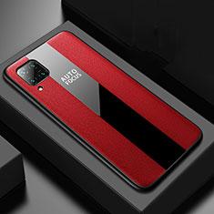 Funda Silicona Goma de Cuero Carcasa H02 para Huawei P40 Lite Rojo