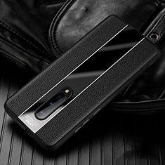 Funda Silicona Goma de Cuero Carcasa H02 para OnePlus 8 Negro