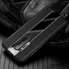 Funda Silicona Goma de Cuero Carcasa H02 para OnePlus 8 Pro Negro