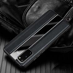 Funda Silicona Goma de Cuero Carcasa H02 para Samsung Galaxy S20 5G Negro