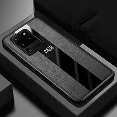 Funda Silicona Goma de Cuero Carcasa H02 para Samsung Galaxy S20 Ultra 5G Negro