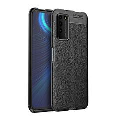 Funda Silicona Goma de Cuero Carcasa H03 para Huawei Honor X10 5G Negro