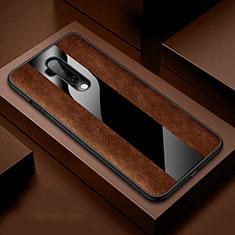 Funda Silicona Goma de Cuero Carcasa H03 para OnePlus 7T Pro Marron