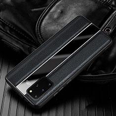 Funda Silicona Goma de Cuero Carcasa H03 para Samsung Galaxy S20 Plus 5G Negro
