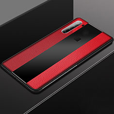 Funda Silicona Goma de Cuero Carcasa H03 para Xiaomi Redmi Note 8T Rojo
