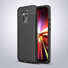 Funda Silicona Goma de Cuero Carcasa H04 para Huawei Mate 20 Lite Negro