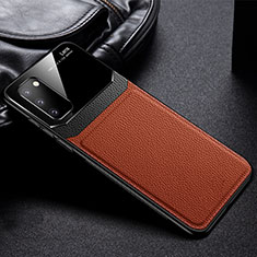 Funda Silicona Goma de Cuero Carcasa H04 para Samsung Galaxy S20 5G Marron