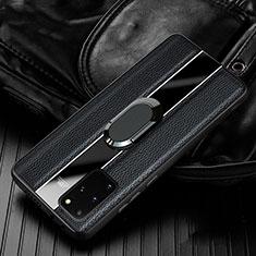 Funda Silicona Goma de Cuero Carcasa H04 para Samsung Galaxy S20 Plus 5G Negro