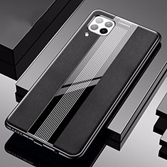 Funda Silicona Goma de Cuero Carcasa H05 para Huawei P40 Lite Negro