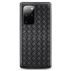 Funda Silicona Goma de Cuero Carcasa H05 para Samsung Galaxy S20 Plus Negro