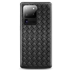 Funda Silicona Goma de Cuero Carcasa H05 para Samsung Galaxy S20 Ultra 5G Negro